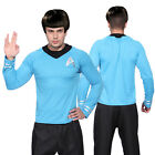 Star Trek Engineering Scotty Uniform Herren Langarm-Shirt  Blaue Tunic Shirt