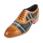 BARKER Men's Hursley Calf Leather / Check Shoe (420226)