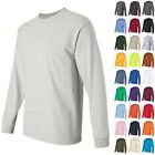 Gildan Ultra Cotton Mens Crewneck Long Sleeve T Shirt 2400 image