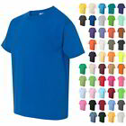 Gildan Youth Boys & Girls Kids Short Sleeve Heavy Cotton T Shirts 5000B