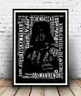 Darth Vader :  Star Wars words Spelled out in poster, Wall art.