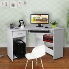 Office Computer Desk Hutch Black Oak Home Pc Laptop Table Study Workstation AL