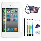 Black/White Front Touch Screen Replacement Lens Glass Repair Kit For iPhone 4 4S