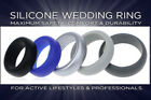 Silicone Rubber Wedding Engagement Ring Band Outdoor Sports US Seller