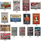 US Retro Coffee Bar Tin Sign Garage Beer Bar Pub Wall Metal Art Poster Decor