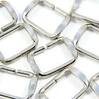 20mm, 25mm, 30mm Chrome Silver Metal Loop Buckle for Strap Webbing Bag Making