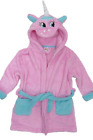 NEW Girls UNICORN Hooded Soft Touch Dressing Gown Ages 2,3,4,5,6,7,8,9,10,11 Yrs