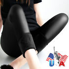 Women Leggings Winter Warm Pants Thick Velvet Faux Leather Leggings Trousers New