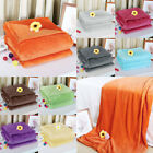 Home Bedroom Bed Quilt Sofa Microplush Throws Blanket Warm Soft Pure