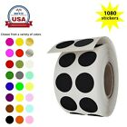 Circle Rolls Dot Stickers Color Coded Rounded Labels 13 mm 0.50 Inch 1080 Pack