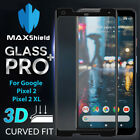 MAXSHIELD 3D Curved Tempered Glass Screen Protector For Google Pixel 2 / XL