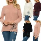 SHIFTING SEASONS Boho Distressed Long Cozy Oversized Knit Sweater 4 Colors S-L