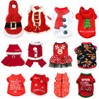 Внешний вид - Pet Dog Puppy Santa Shirt Christmas Clothes Costumes Warm Jacket Coat Apparel