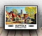 Suffolk : old Rail advertising , Reproduction poster, Wall art.