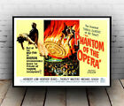 Phantom of the Opera : old Movie advertising , Reproduction poster, Wall art.