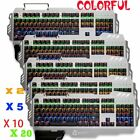 104 Keys Mechanical Gaming Backlit Keyboard Anti-ghosting RGB LED 3 Colors LOT T