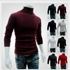 Men's Casual High Neck Long Sleeve Shirts Slim Fit T-Shirt Tops Stretch Tee