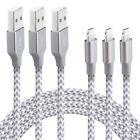 XUZOU Lightning Cable3Pack 6FT Long Nylon Braided iPhone Charger USB Cord - F...