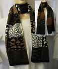 STRICKSCHAL Graphisches Design KNITTED SCARF Graphic Design in 2 Farben