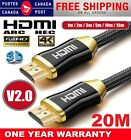New HDMI Premium Cable V2.0 Gold Plated High Speed Audio 3D 4K Ultra HD 1m~20m <br/> FOR USA BUYER - 5 DAYS DELIVERY WITH TRACKING NUMBER ❤❤