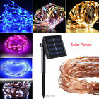 Solar Power String Lights 100 LED Copper Wire Fairy Light Decorative Xmas Party