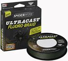 NEW SPIDERWIRE ULTRACAST FLUORO-BRAID FISHING LINE FREE POST UK