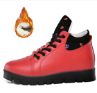 Womens Flats Fleece Lined Ankle Snow Boots Lace Up Casual Warm Shoes Slip On A97