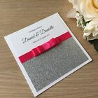 *SAMPLE* PERSONALISED GLITTER WEDDING EVENING INVITATIONS - CARD/POCKETFOLD