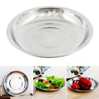 16cm~28cm Dia Stainless Steel Tableware Camping Dinner Plate Food Container