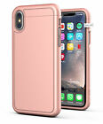 Apple iPhone X Slim Protective Grip Case w/ Screen Protector SD45RG Rose Gold