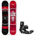 2018 FLOW Vert 158cm WIDE Snowboard+5th Element Bindings with Cap Strap NEW