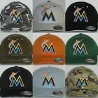 "Miami Marlins ""FLEX FIT"" Cap ⚾HAT ⚾MLB PATCH/LOGO ⚾3 SIZES ⚾️13 COOL COLORS ⚾NEW on Ebay"
