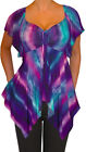 ZN@ Funfash Plus Size Women Purple Empire Waist A Line Top Shirt Made in USA