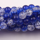 Crackle Glass Loose Beads Various Colors & Amounts (6 mm beads)
