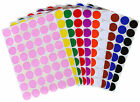 Round Dot Decorative Marking Labels Permanent Adhesive Assorted Colors Stickers