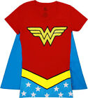 Wonder Woman Glitter V-Neck With Cape