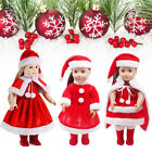 1 Set New Cute Xmas Dress Red Dress Shawl Hat For Amrican Girl Dolls