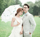 76cm Retro Girls Lace Cotton Parasol Sun Umbrella Bridal Wedding Party Decors
