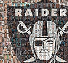 Oakland Raiders Photo Mosaic Print Art using over 100 player images