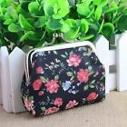 New Girls Vintage Floral Coin Purse Retro Rose Ladies Small Wallet Pouch