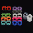 Colorful Silicone Ear Skin Flesh Tunnels Plugs Gauges Stretching For Ears