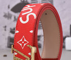 $Hot Sell Fashion Print Design Men's&womens Belt Gold Buckle New