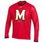 new mens M under armour maryland terrapins sideline huddle LS/long sleeve shirt