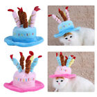 Candles Design Pet Costume Birthday Hat  Accessory for Dog Small Animals 2Colors