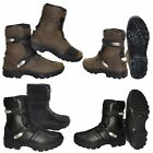 Motorbike Black Armoured Off Road Shoes Motorcycle Touring Leather Boots Racing