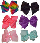 Girls Large Hair Bow With Clip Grosgrain Ribbon Jojo Style - Various Colours
