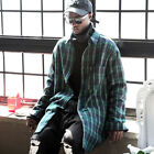 ByTheR Flannel Fabric Stylish Check Patterned Comfort Loose-fit Chic Long Shirt