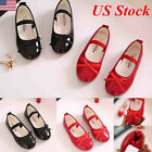 NEW KIDS WALKING SCHOOL TODDLER BOW SANDALS GIRLS PARTY WEDDING DANCE SHOES SIZE