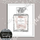 Fashion Abstract Dusty Pink Perfume Bottle Beauty room Office Wall art print