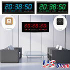 Large Modern Design Digital LED Desk/Wall Clock Watches 24 or 12-Hour Display US